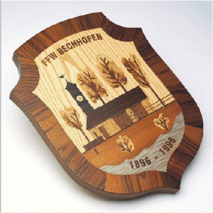 герб - интарсия